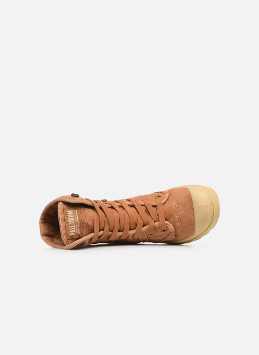 Sneaker Palladium Pallabrousse Baggy F braun ansicht von links