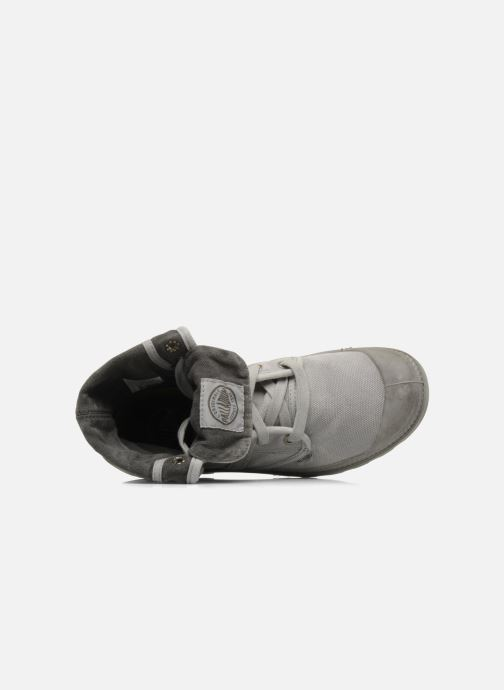Sneaker Palladium Pallabrousse Baggy F grau ansicht von links