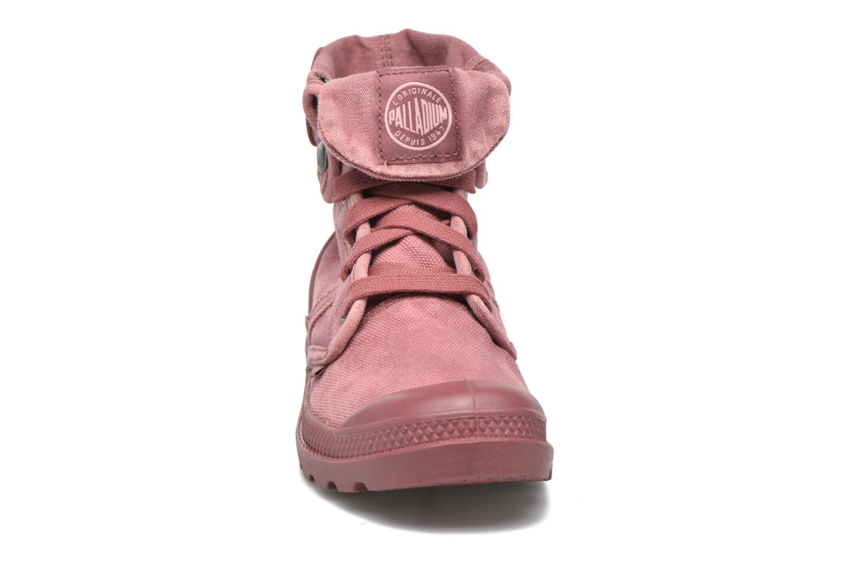 Baskets Palladium Us Baggy F Rouge vue portées chaussures