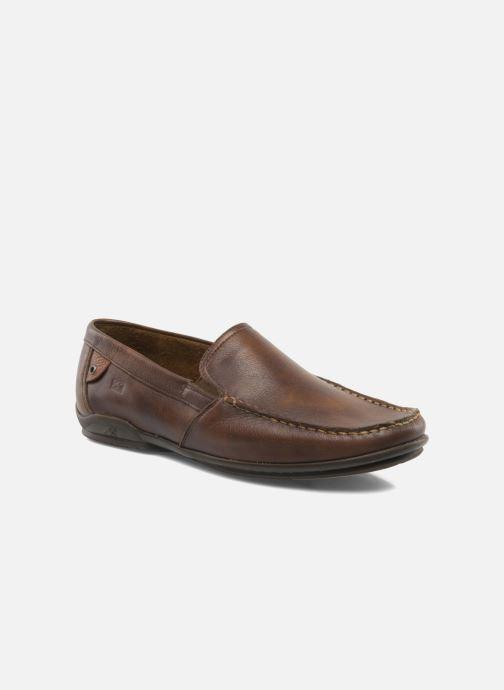 Loafers Fluchos Baltico 7149 Brun detaljeret billede af skoene