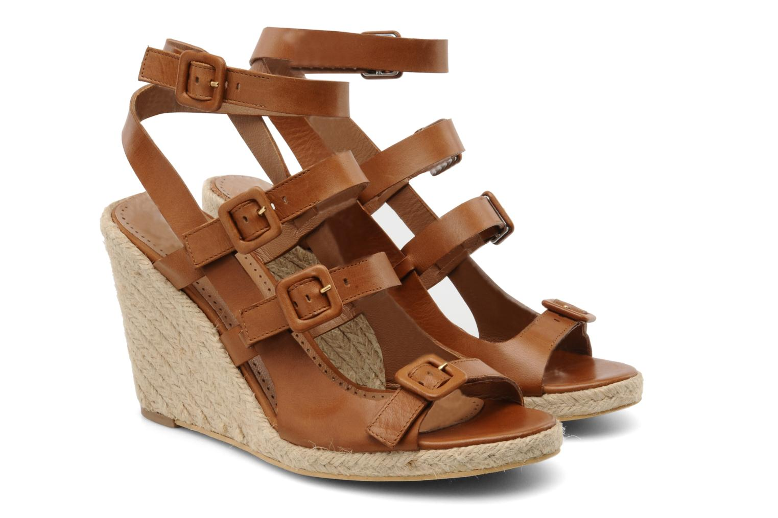 Sandals Moschino Cheap & Chic Cevil Brown 3/4 view