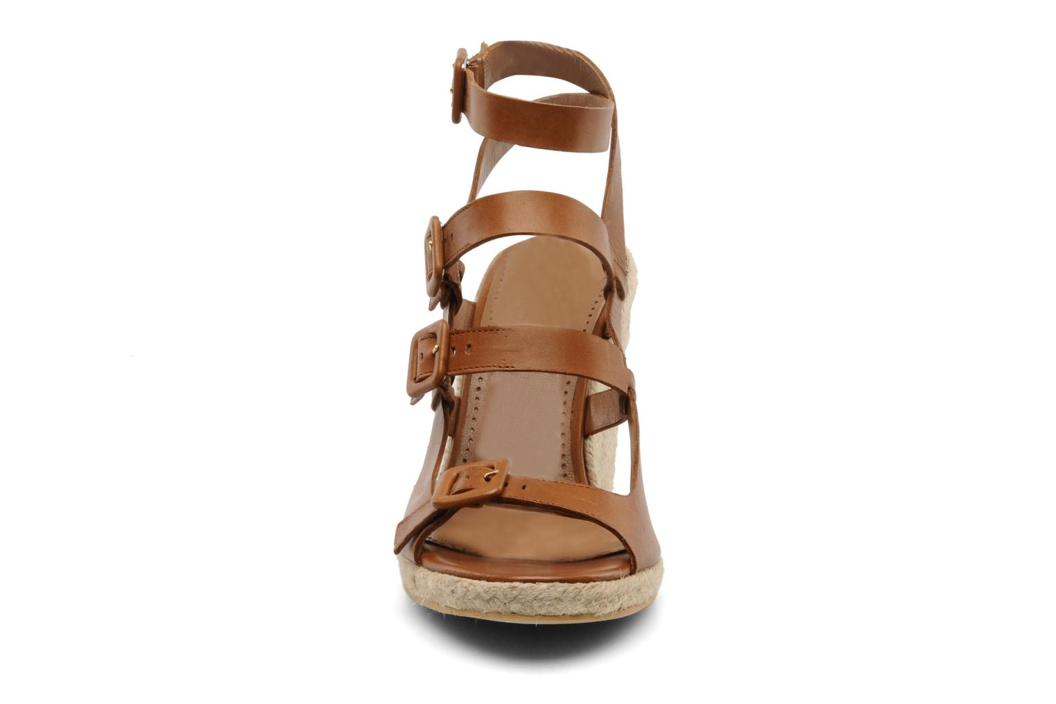Sandals Moschino Cheap & Chic Cevil Brown model view