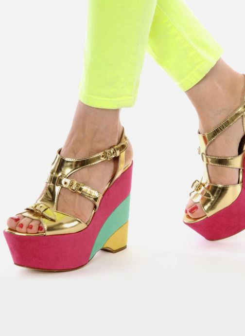 Sandals Moschino Cheap & Chic Cepale Multicolor view from underneath / model view