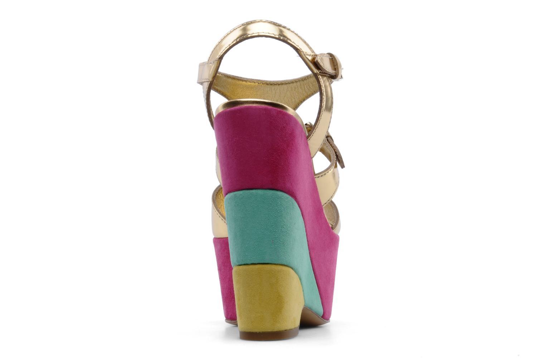 Sandales et nu-pieds Moschino Cheap & Chic Cepale Multicolore vue droite