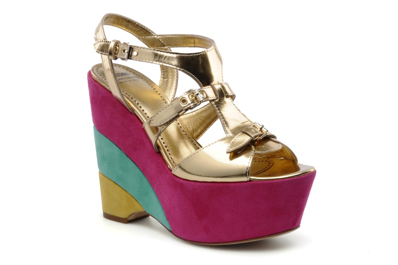 Sandales et nu-pieds Moschino Cheap & Chic Cepale Multicolore vue détail/paire