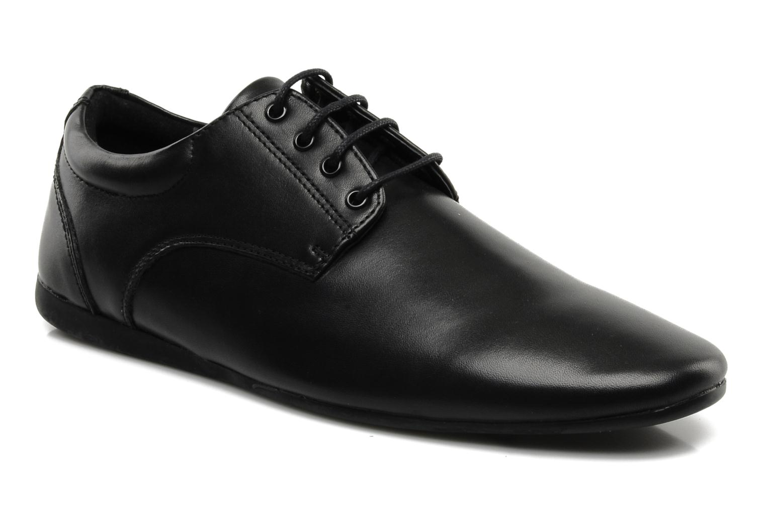 Lace-up shoes Schmoove Fidji New Derby Lucas Leather Black detailed view/ Pair view