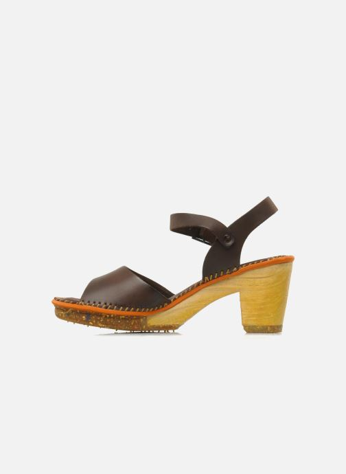 Sandales et nu-pieds Art Amsterdam 325 Marron vue face