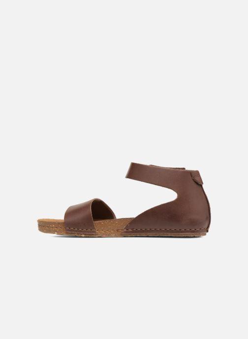 Sandales et nu-pieds Art Creta 440 Marron vue face