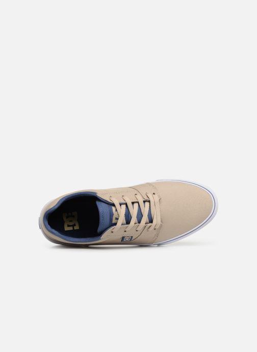 Deportivas DC Shoes Tonik TX Beige vista lateral izquierda