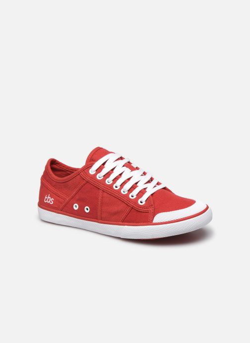 Baskets TBS Violay Rouge vue détail/paire