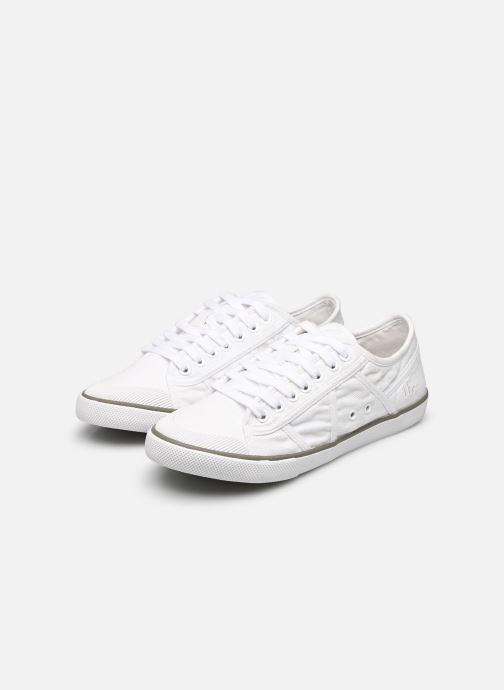 Sneaker TBS Violay weiß ansicht von unten / tasche getragen