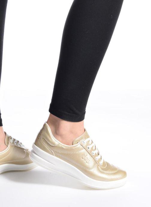 Sneakers TBS Made in France Brandy Oro e bronzo immagine dal basso