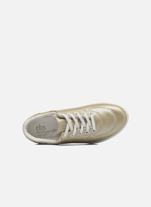 Sneakers TBS Made in France Brandy Oro e bronzo immagine sinistra