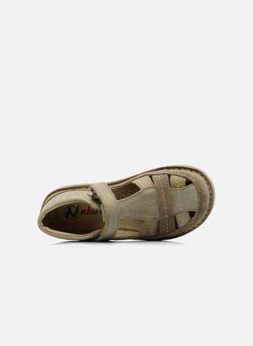 Sandales et nu-pieds Naturino Gloria Beige vue gauche