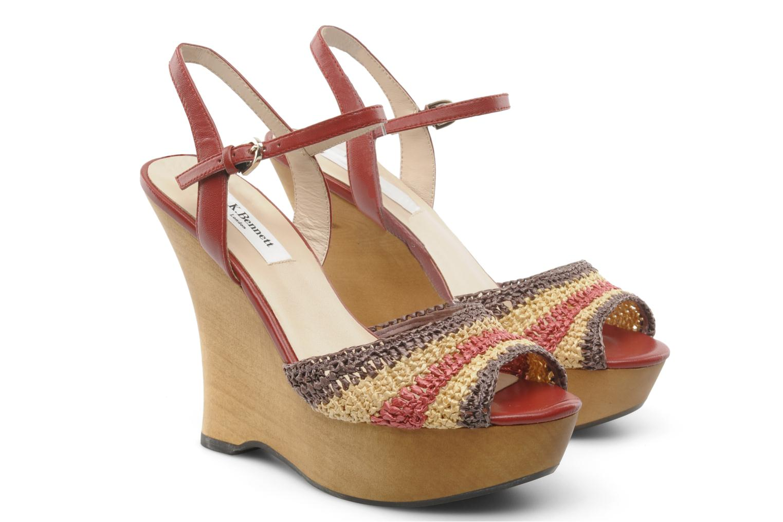 Sandales et nu-pieds L.K. Bennett MAC Multicolore vue 3/4