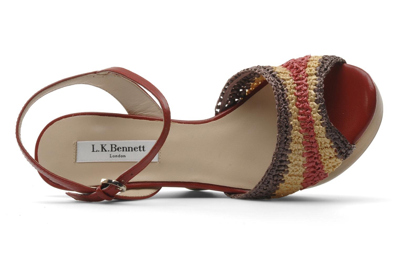 Sandales et nu-pieds L.K. Bennett MAC Multicolore vue gauche