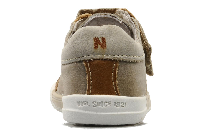 Baskets Noël Mini Nico Beige vue droite