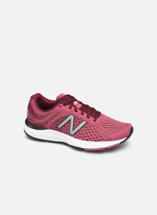 Chaussures de sport New Balance W680 Rose vue détail/paire