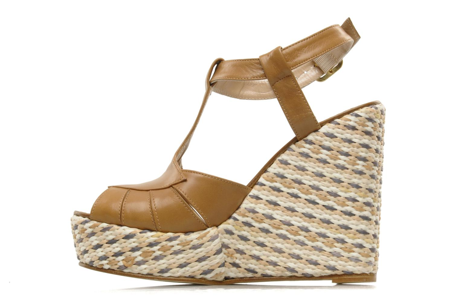 Sandals JB MARTIN Inite Brown front view