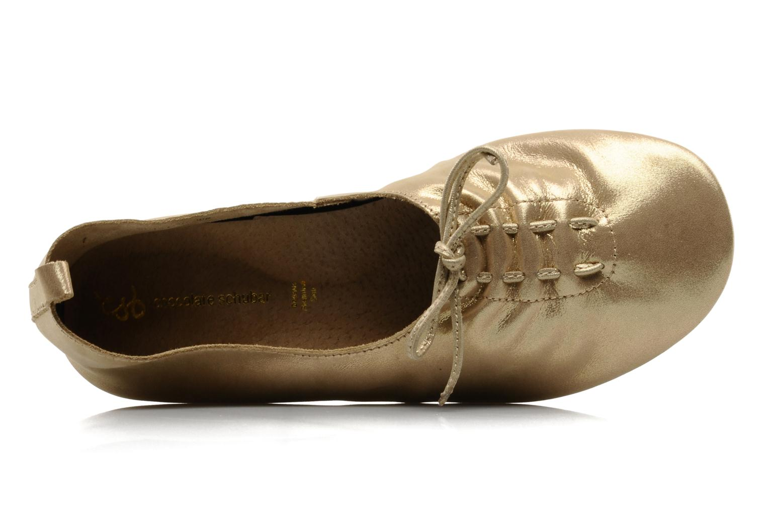 Ballerines Chocolate Schubar Daniel Or et bronze vue gauche