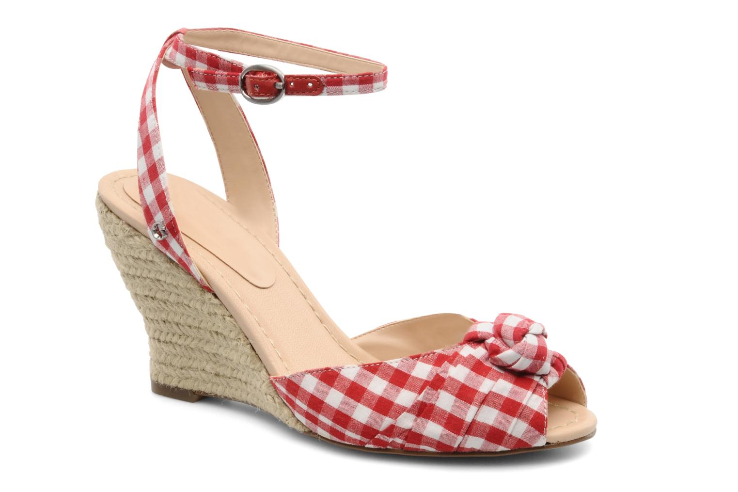 Sandals Guess Abbiel Red detailed view/ Pair view
