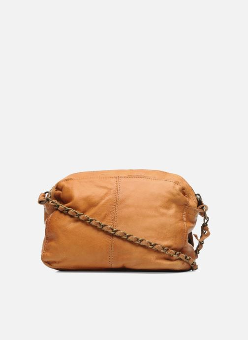 Handbags Pieces Naina Leather Crossover Brown front view