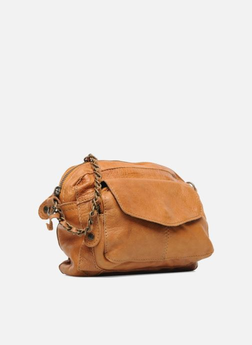 Handbags Pieces Naina Leather Crossover Brown view from the right