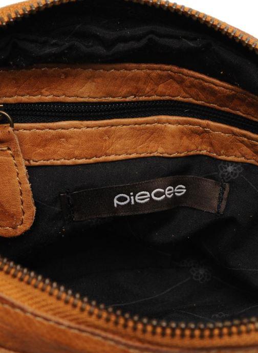 Handtassen Pieces Naina Leather Crossover Bruin achterkant