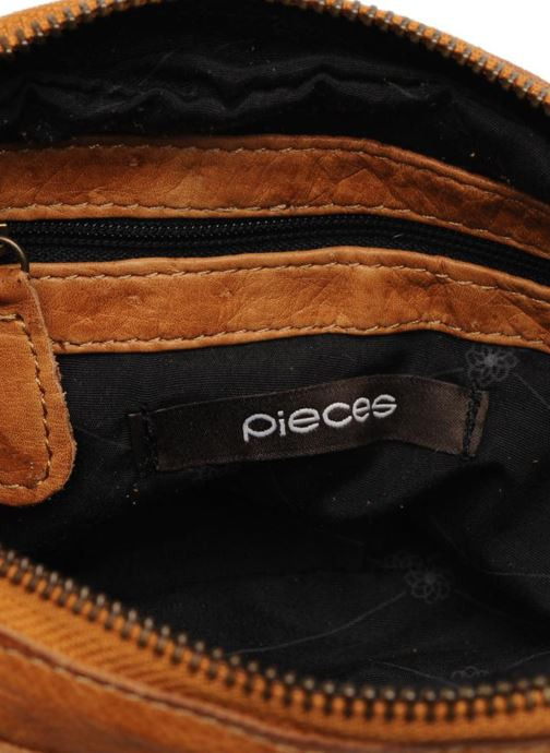 Bolsos de mano Pieces Naina Leather Crossover Marrón vistra trasera