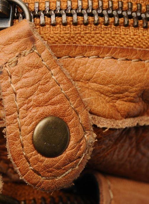 Bolsos de mano Pieces Naina Leather Crossover Marrón vista lateral izquierda