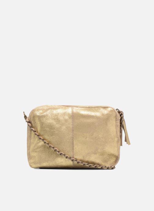 Handtaschen Pieces Naina Leather Crossover gold/bronze ansicht von vorne
