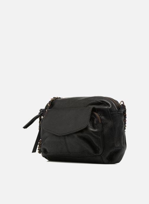 Handtaschen Pieces Naina Leather Crossover schwarz schuhe getragen