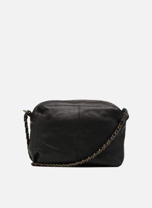 Handtaschen Pieces Naina Leather Crossover schwarz ansicht von vorne