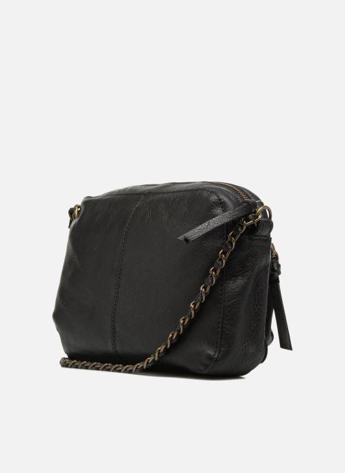 Handtaschen Pieces Naina Leather Crossover schwarz ansicht von rechts