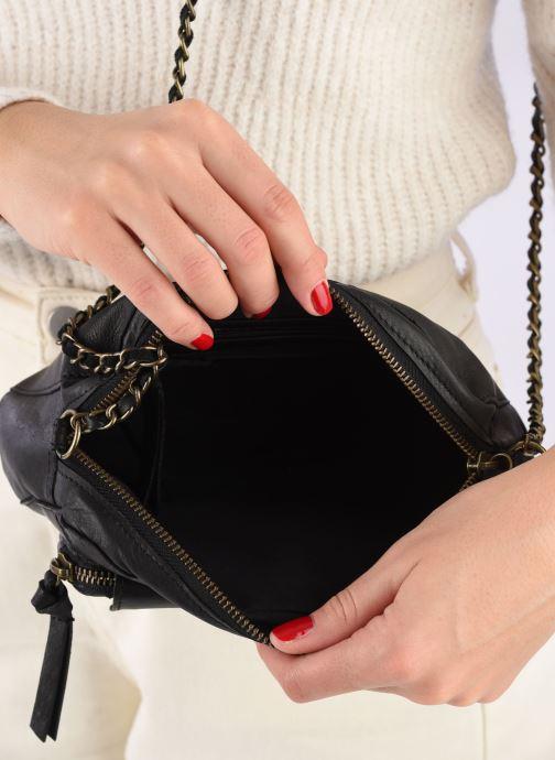 Handtassen Pieces Naina Leather Crossover Zwart achterkant