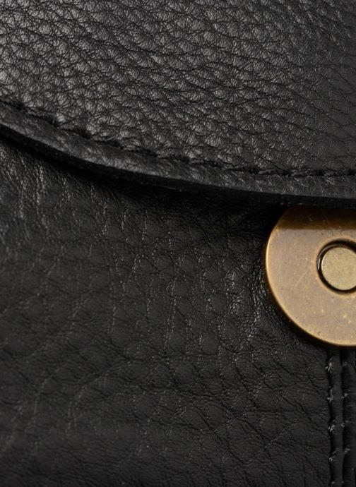Handtaschen Pieces Naina Leather Crossover schwarz ansicht von links