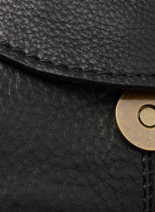 Handtassen Pieces Naina Leather Crossover Zwart links