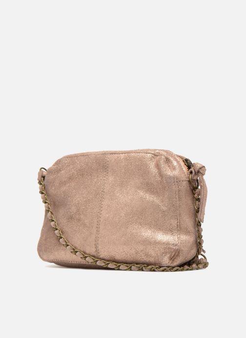 Borse Pieces Naina Leather Crossover Rosa immagine destra