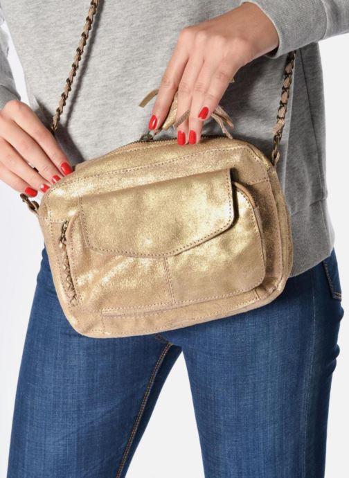 Borse Pieces Naina Leather Crossover Rosa immagine dal basso