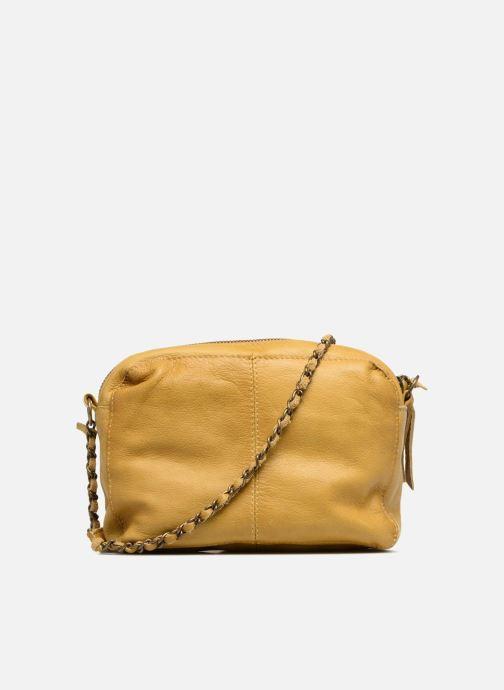 Handtaschen Pieces Naina Leather Crossover gelb ansicht von vorne