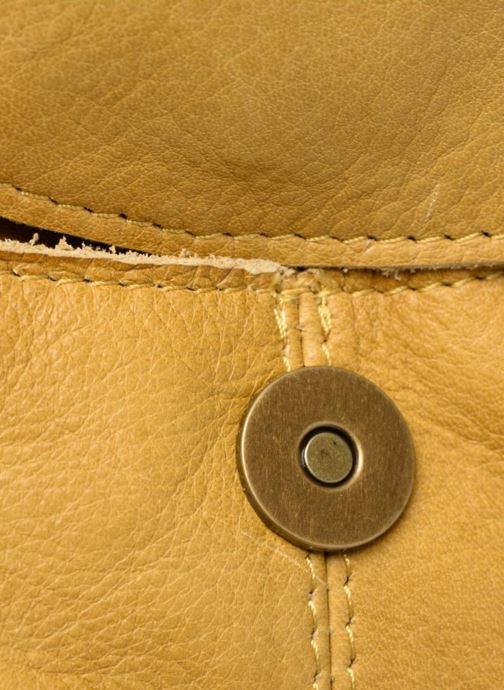 Handtaschen Pieces Naina Leather Crossover gelb ansicht von links