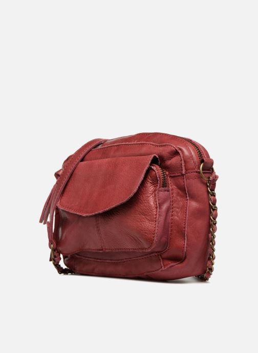 Handtaschen Pieces Naina Leather Crossover weinrot schuhe getragen