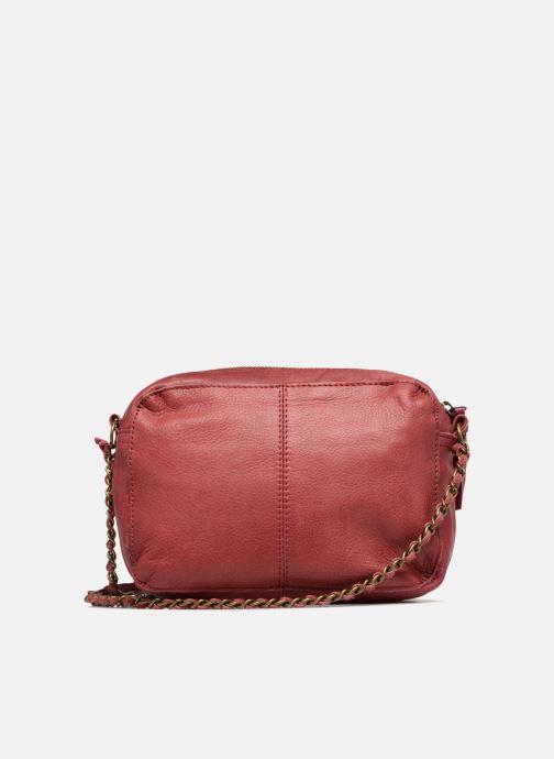 Handtaschen Pieces Naina Leather Crossover weinrot ansicht von vorne