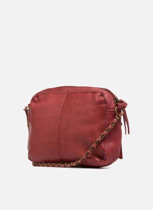 Handtaschen Pieces Naina Leather Crossover weinrot ansicht von rechts