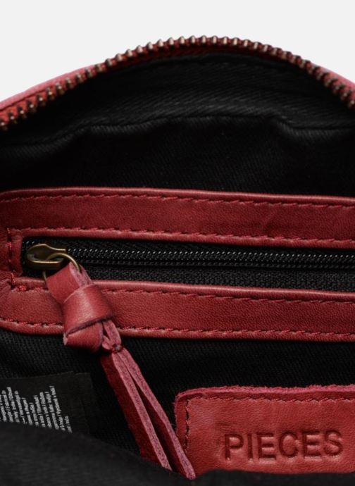 Handtaschen Pieces Naina Leather Crossover weinrot ansicht von hinten