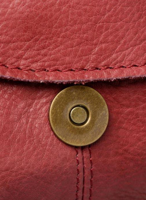 Handtaschen Pieces Naina Leather Crossover weinrot ansicht von links