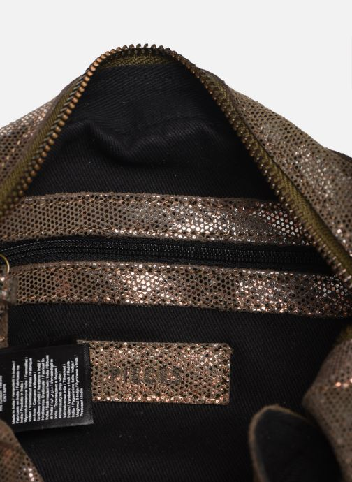 Handbags Pieces Naina Leather Crossover Bronze and Gold back view