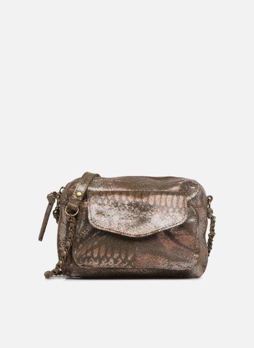 Bolsos de mano Pieces Naina Leather Crossover Oro y bronce vista de detalle / par