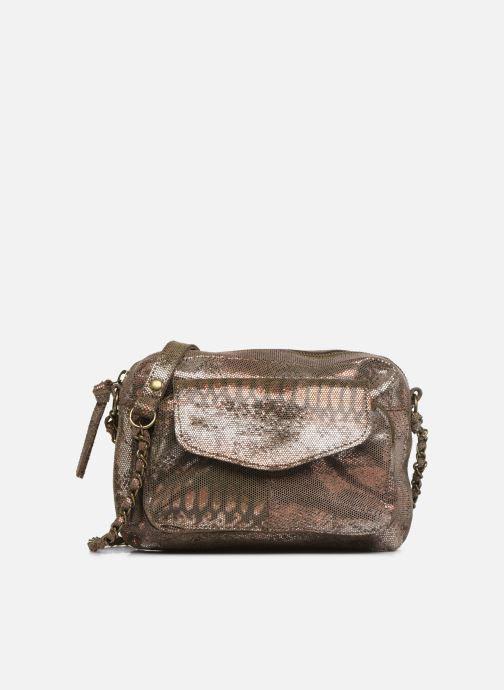 Handväskor Pieces Naina Leather Crossover Bronze och Guld detaljerad bild på paret