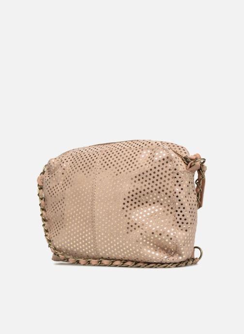 Sacs à main Pieces Naina Leather Crossover Beige vue droite